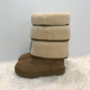 New! UGG Y/Project Triple Turn Up Chestnut Boots